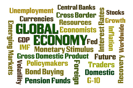 emerging markets: Global Economy word cloud on white background