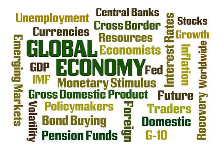 economists: Global Economy word cloud on white background