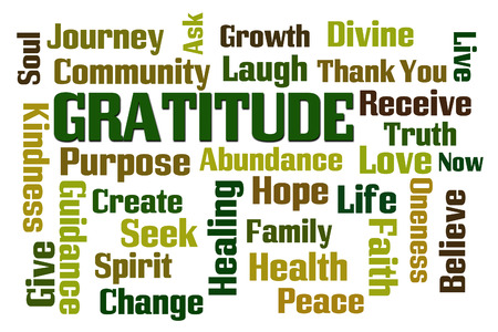 word: Gratitude word cloud on white background