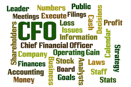 cfo: CFO word cloud on white background