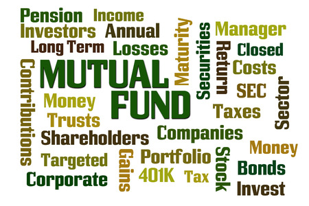 mutual fund: Mutual Fund word cloud on white background