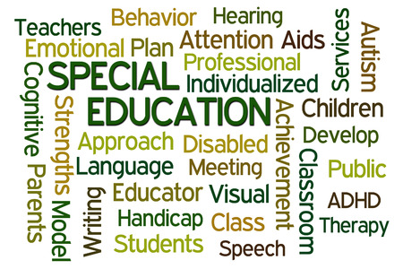 Special Education word cloud on white background photo