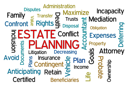 estate planning: Estate Planning word cloud on white background