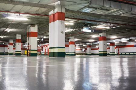 parking lot interior: Empty Underground Parking Garage
