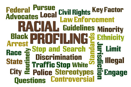 profiling: Racial Profiling word cloud on white background