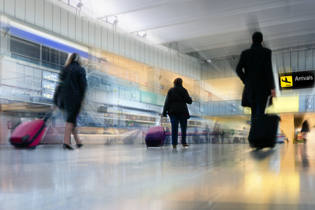 airport check in counter: Airline Passengers at the Airport