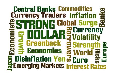 volatility: Fuerte palabra D�lar nube sobre fondo blanco