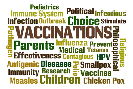 antigenic: Vaccinations word cloud on white background