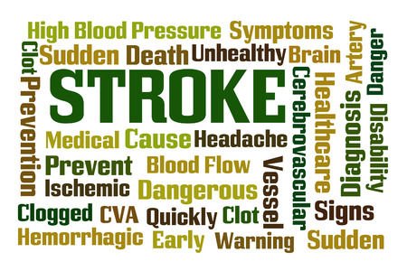 Stroke word cloud on white background photo