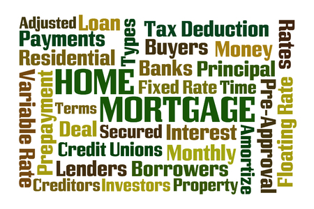 Home Mortgage word cloud on white background
