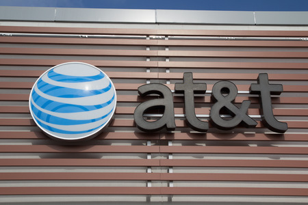 nationwide: JACKSONVILLE, FLORIDA, USA - JULY 19, 2015: An AT&T Mobility sign in Jacksonville. AT&T Mobility is the second largest wireless telecommunications provider in the United States and Puerto Rico.