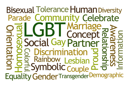 gay parade: LGBT Word Cloud on White Background