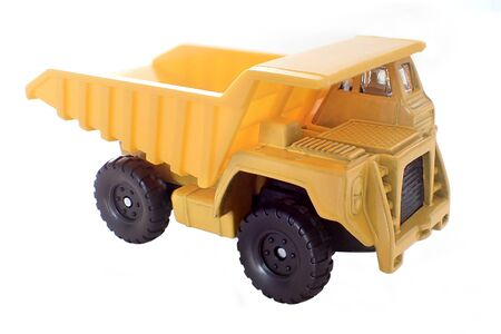 Toy Construction Truck on White Background