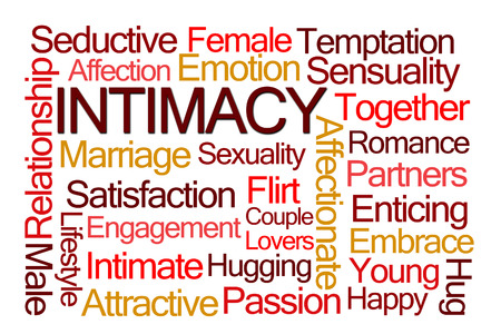 Intimacy Word Cloud on White Background