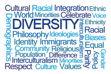 Diversity Word Cloud on White Background
