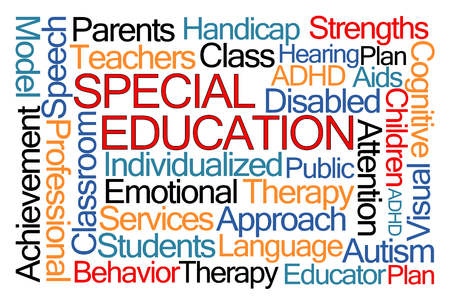 individualized: Special Education Word Cloud on White Background