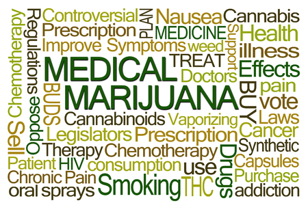 legislators: Medical Marijuana Word Cloud on White Background