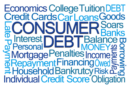 borrowing: Consumer Dept Word Cloud on White Background