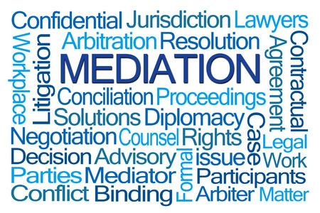proceedings: Mediation Word Cloud on White Background