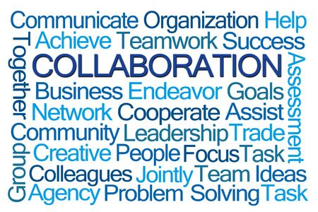 Collaboration Word Cloud on White Background