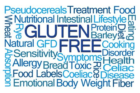 food absorption: Gluten Free Word Cloud on White Background