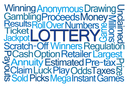 odds: Lottery Word Cloud on White Background
