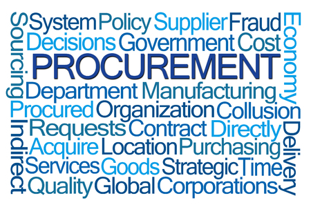 indirect: Procurement Word Cloud on White Background