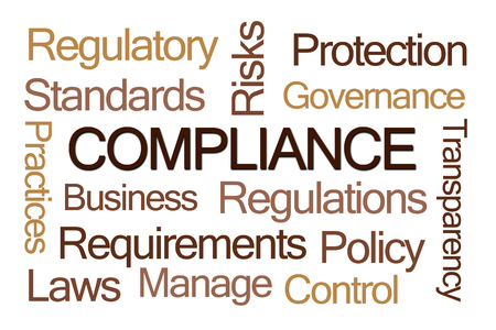comply: Compliance Word Cloud on White Background
