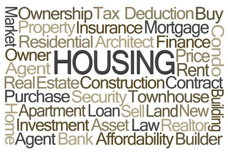 appreciating: Housing Word Cloud on White Background