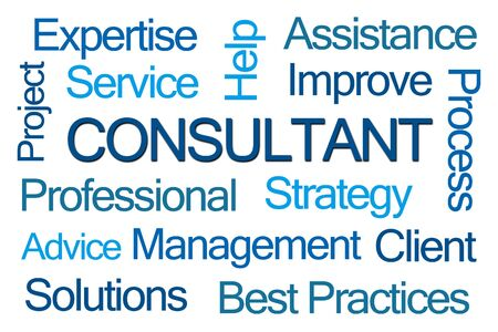 best practices: Consultant Word Cloud on White Background Stock Photo