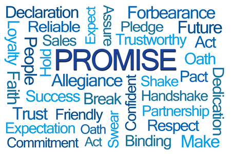 promise: Promise Word Cloud on White Background