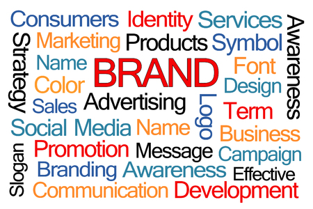 campaigns: Brand Word Cloud on White Background