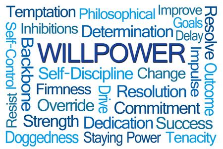 firmeza: La fuerza de voluntad nube de la palabra en el fondo blanco