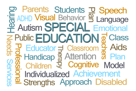 educator: Special Education Word Cloud on White Background