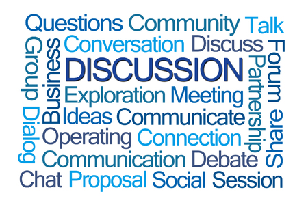 Discussion Word Cloud on White Background