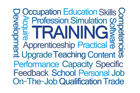 competencies: Training Word Cloud on White Background