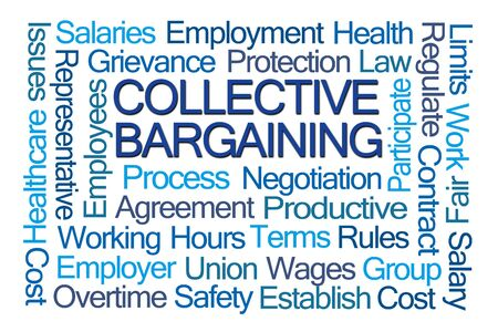 collective: Collective Bargaining Word Cloud on White Background