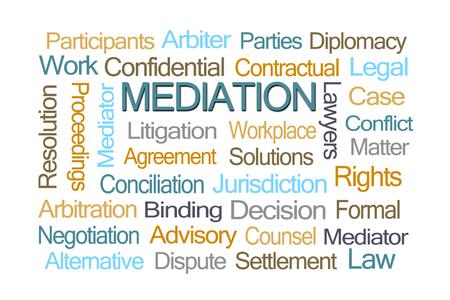arbiter: Mediation Word Cloud on White Background