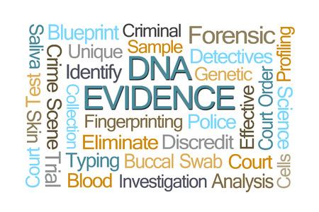 criminal investigation: DNA Evidence Word Cloud on White Background
