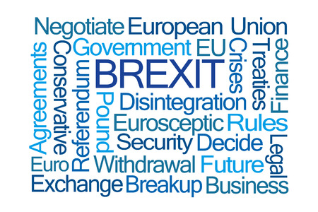 treaties: Brexit Word Cloud on White Background