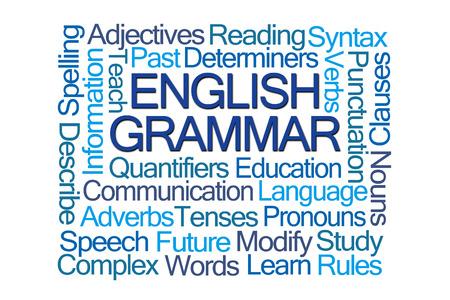 noun: English Grammar Word Cloud on White Background