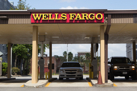 JACKSONVILLE, FLORIDA - OCTOBER 26, 2016: A Wells Fargo drive thru in Jacksonville. Wells Fargo & Company was founded in 1929 and currently has 9,000 bank branches in 39 states.