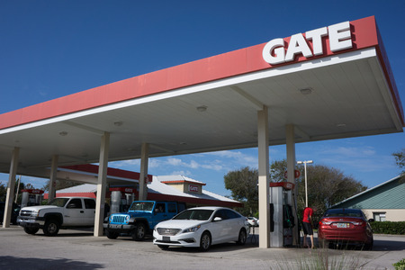 JACKSONVILLE, FL - OCTOBER 16, 2016: A Gate Petroleum gas station in Jacksonville. Gate Petroleum is headquartered in Jacksonville and has over 225 gas stations in six states with over 2,200 employees.