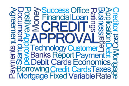 variable rate: Credit Approval Word Cloud on White Background