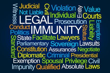 spousal: Legal Immunity Word Cloud on Blue Background