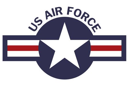 United States of America Air Force Roundel on White Background Archivio Fotografico