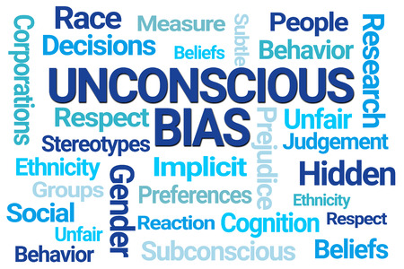Unconscious Bias Word Cloud on White Background