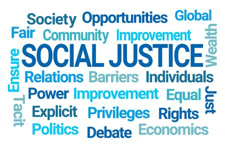 Social Justice Word Cloud on White Background Standard-Bild