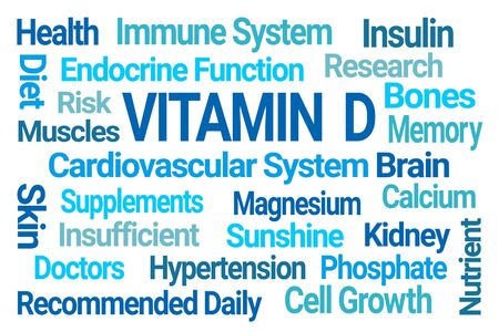 Vitamin D Word Cloud on White Background