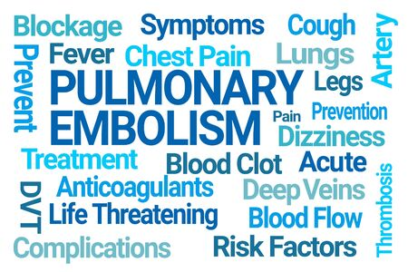 Pulmonary Embolism Word Cloud on White Background